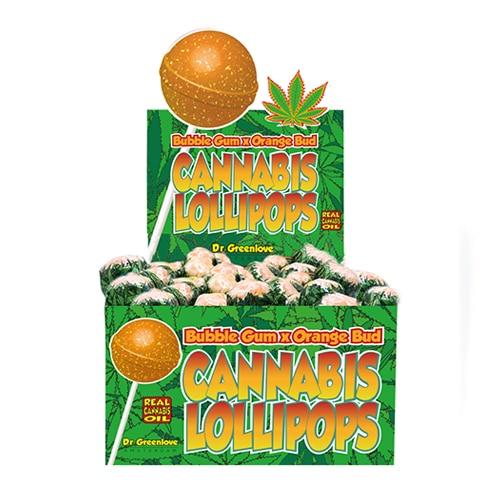 sucette CBD Bubble gum et Orange bud